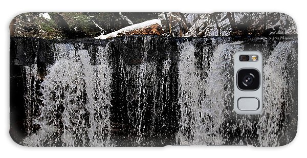 Winter Woodland Waterfall Galaxy Case