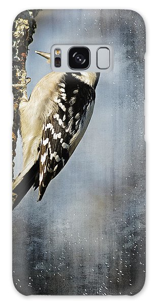 Winter Woodpecker Galaxy Case
