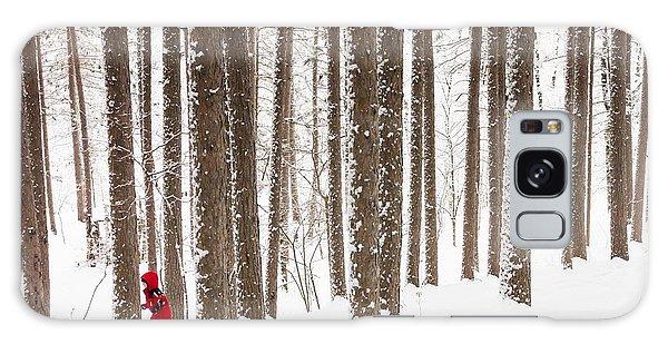 Winter Frolic Galaxy Case by Mary Amerman