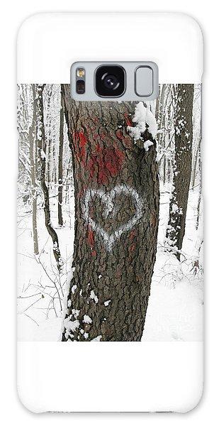 Winter Woods Romance Galaxy Case
