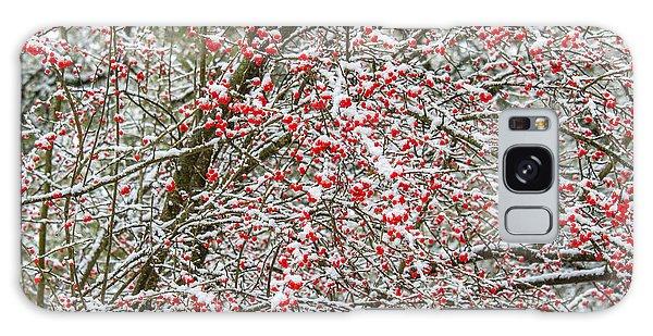 Winterberry During A Snowfall Galaxy Case