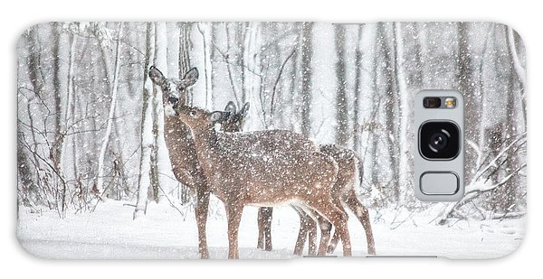 White-tailed Deer Galaxy Case - Winters Love by Karol Livote