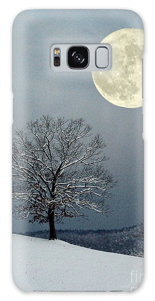 Winter's Moon Galaxy Case by Laurinda Bowling