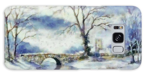 Winters River Galaxy Case by Elizabeth Coats