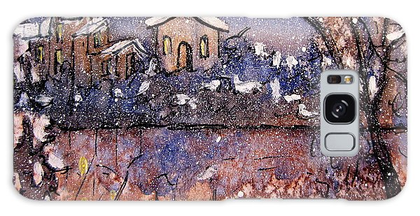 Winterscene Reflections Galaxy Case