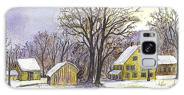 Wintertime In The Country Galaxy Case by Carol Wisniewski