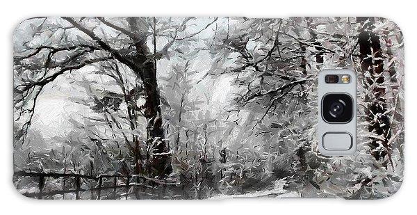 Wintery Road Galaxy Case by Kai Saarto