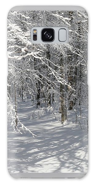 Wintery Woodland Shadows Galaxy Case by Patricia Overmoyer