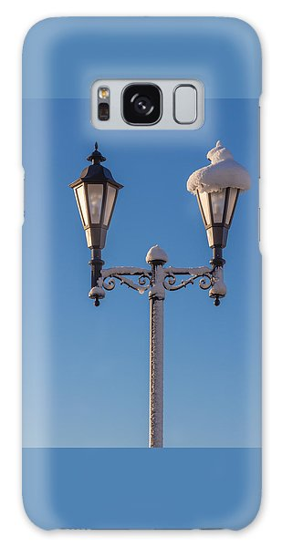 Wintry Lamp Post Galaxy Case