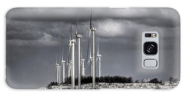 Wintry Windmills Galaxy Case