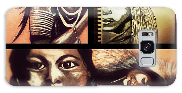 Historical Native Series Called Idle No More Galaxy Case by Ayasha Loya