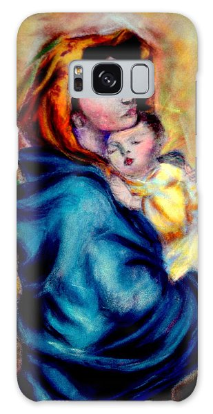 Mondonna Of The Street By Roberto Ferrizzi, Rendition In Pastel Antonia Citrino,  Sold.        Galaxy Case
