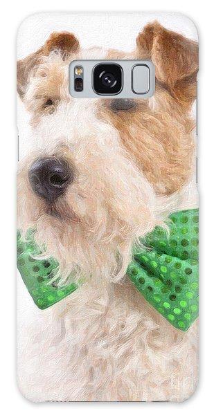 Wire Fox Terrier With Bowtie Galaxy Case by Verena Matthew