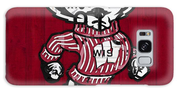 Wisconsin Badgers College Sports Team Retro Vintage Recycled License Plate Art Galaxy Case by Design Turnpike
