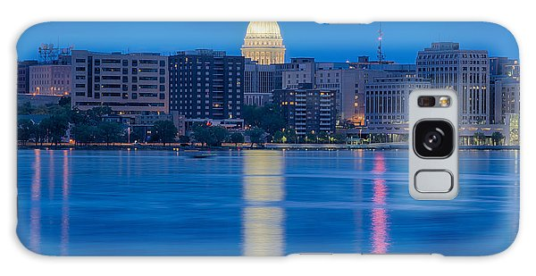 Wisconsin Capitol Reflection Galaxy Case by Sebastian Musial