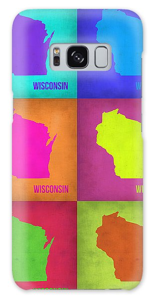 City Map Galaxy Case - Wisconsin Pop Art Map 2 by Naxart Studio