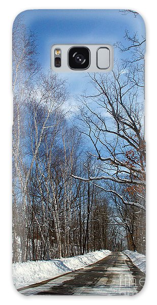 Wisconsin Winter Road Galaxy Case