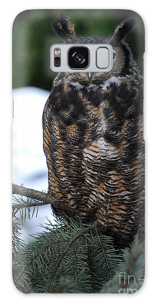 Wise Old Owl Galaxy Case by Sharon Elliott