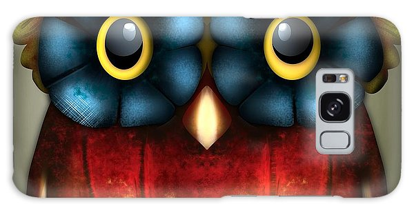 Wise Pumpkin Owl Galaxy Case