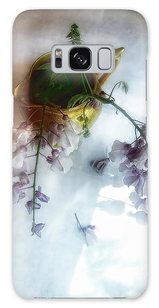 Wisteria In A Gold Pitcher Still Life Galaxy Case