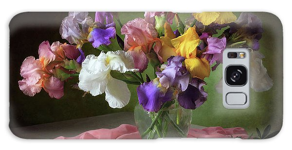 Scarf Galaxy Case - With A Bouquet Of Irises And Flowers Lupine by ??????????? ??????????