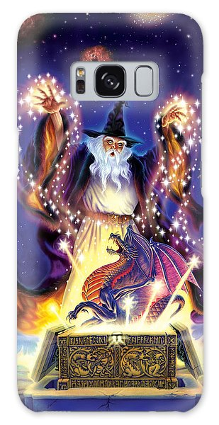 Wizard Dragon Spell Galaxy Case