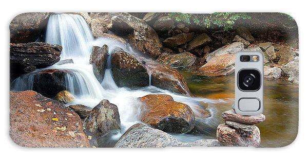 Wnc Flowing Zen Waterfalls Landscape - Harmony Waterfall Galaxy Case
