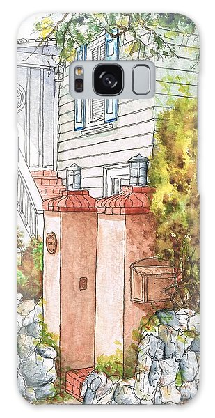 Two Pillars And A Mail Box In Mt. Olympus - Hollywood Hills - California Galaxy Case by Carlos G Groppa