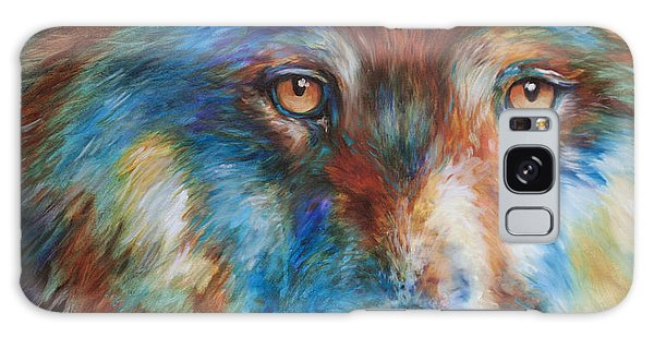 Wolf Abstract 3618 Galaxy Case by Marcia Baldwin