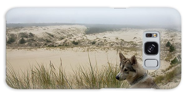 Wolf At The Dunes Galaxy Case