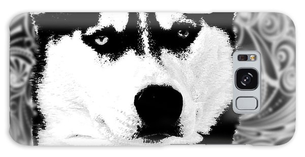 Wolf Dog Black  White B W Galaxy Case