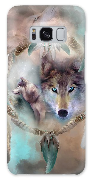 Native American Galaxy Case - Wolf - Dreams Of Peace by Carol Cavalaris