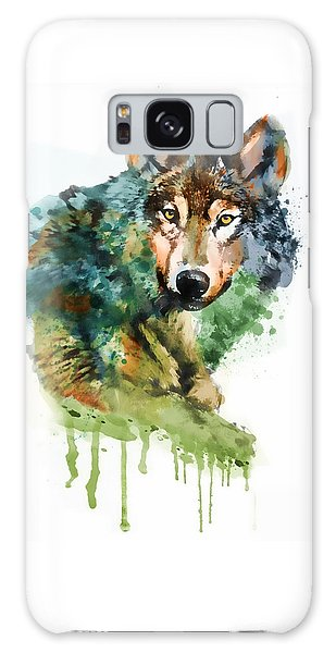 Wolf Face Watercolor Galaxy Case