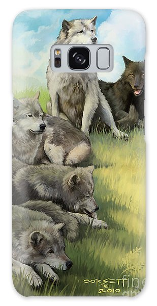 Wolf Gathering Lazy Galaxy Case