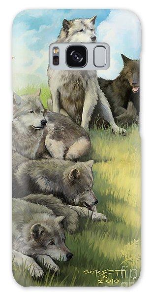 Wolf Gathering Lazy Galaxy Case