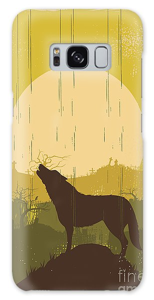 Coyote Galaxy Case - Wolf Howling Background, Vector by Seita