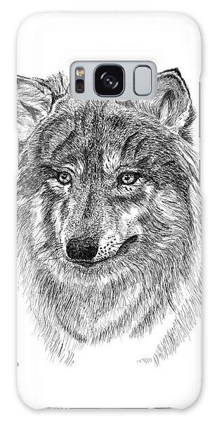 Wolf II Galaxy Case by Carl Genovese