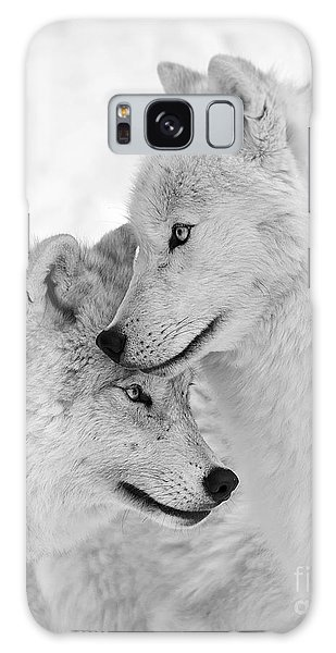 Wolf Love Black And White Galaxy Case