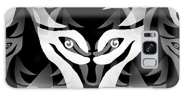 Wolf Mask Galaxy Case by Barbara Moignard