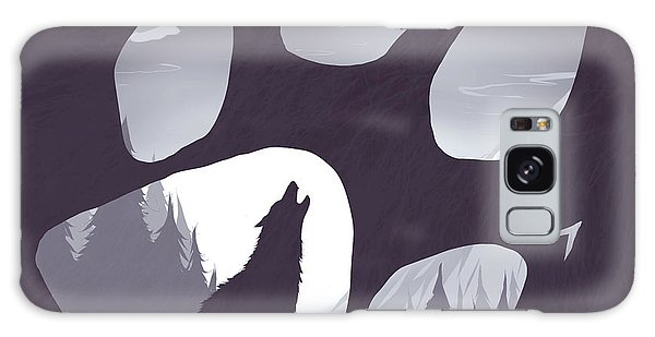 Moon Galaxy Case - Wolf Paw by Daniel Hapi