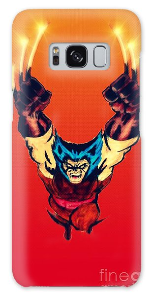 Wolverine  Galaxy Case by Justin Moore