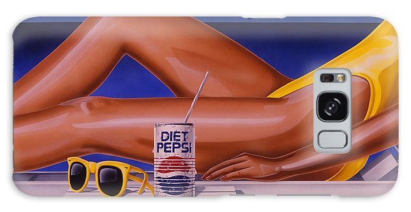 Woman At Beach With Diet Pepsi Galaxy Case