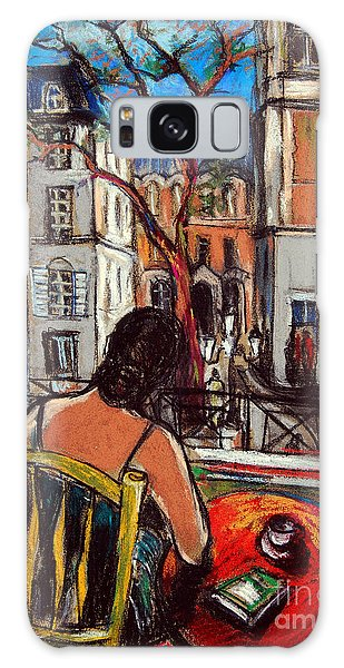 Woman At Window Galaxy Case
