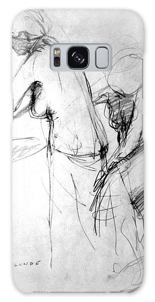 Woman Bathing-study Galaxy Case by Mark Lunde