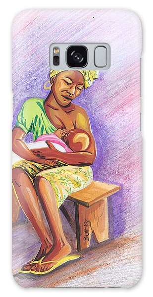 Woman Breastfeeding Bay In Rwanda Galaxy Case