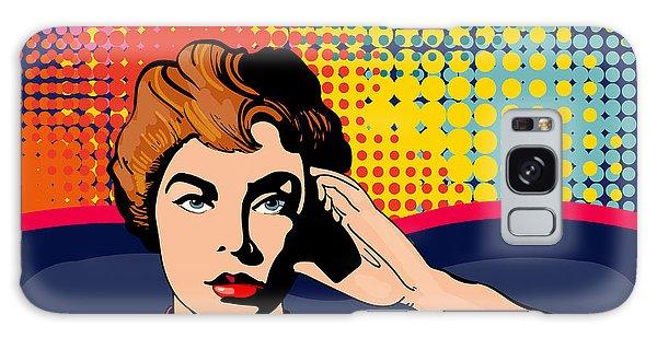 People Galaxy Case - Woman Driving A Car Pop Art Vector by Intueri