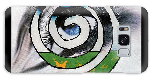 Woman Eye Spral Galaxy Case by Christine Perry