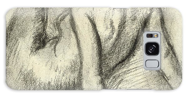 Beautiful Girl Galaxy Case - Woman Having Her Hair Styled by Edgar Degas