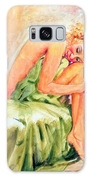 Woman In Blissful Ecstasy Galaxy Case
