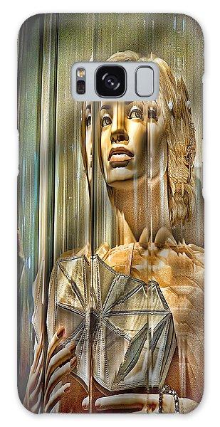 Woman In Glass Galaxy Case